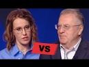 Жириновский снова оскорбляет Собчак в прямом эфире дебатов