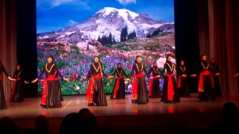 Грузинский танец , выступление Даймохк