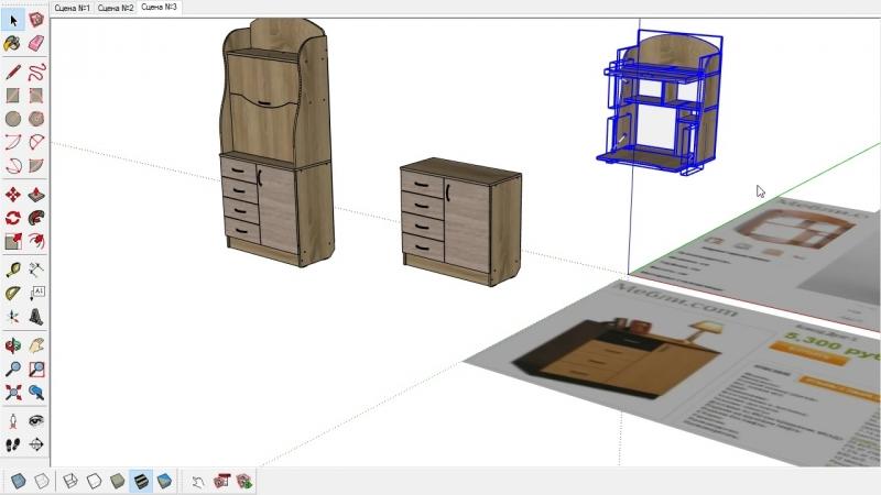 Компьютерный стол Бюро Классик Тиса мебель и АКМ