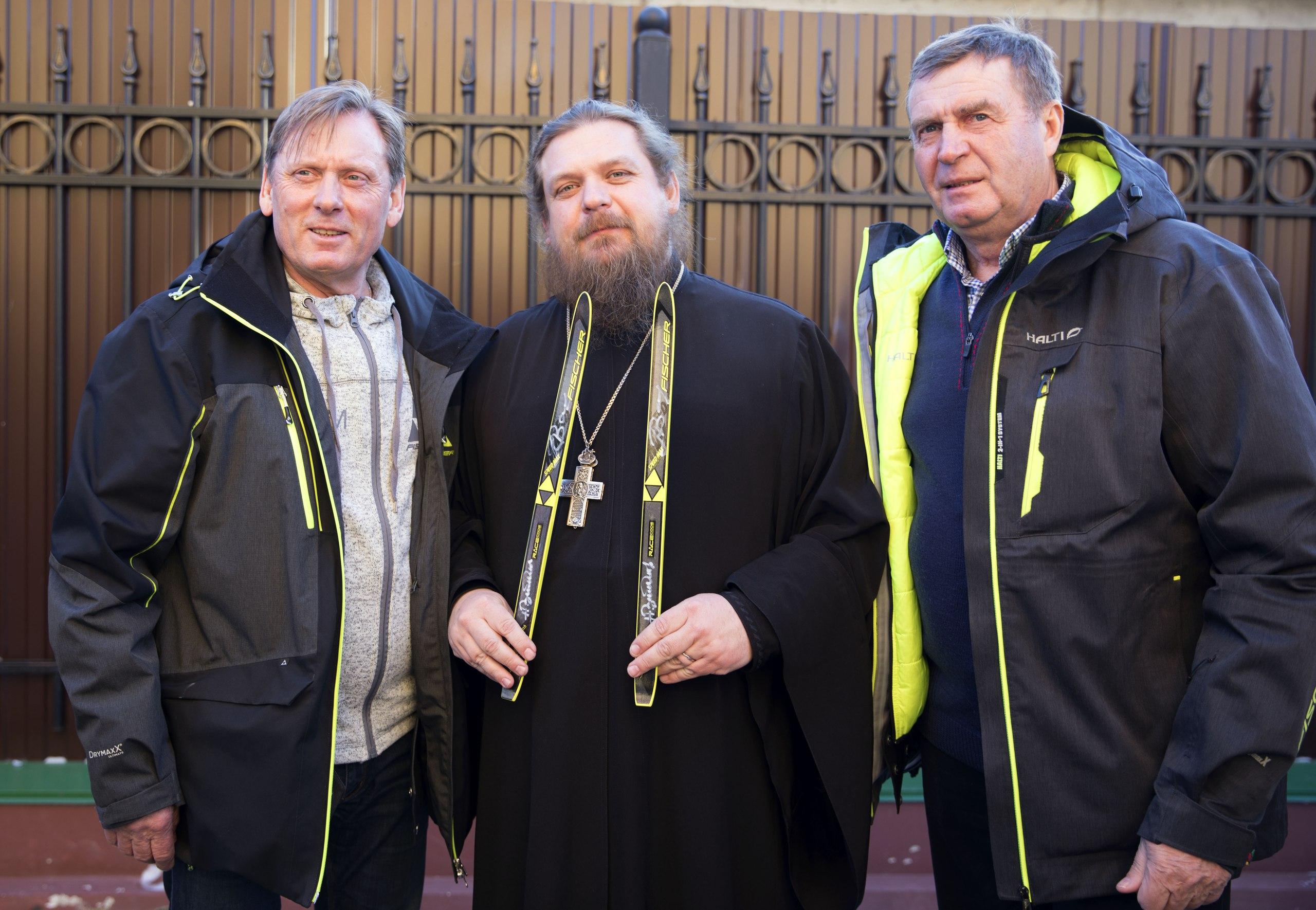 Духосошественский храм посетили Олимпийские чемпионы