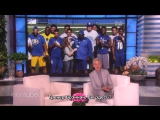 Ellen Surprises Coach Alonzo Carter San Jose State University Football Team RUS SUB