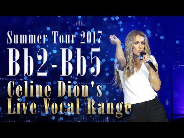 Céline Dion's Live Vocal Range Summer Tour 2017 (Bb2-Bb5)
