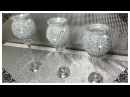 DIY CRUSHED GLASS BLING DOLLAR TREE CANDLE HOLDERS 2018