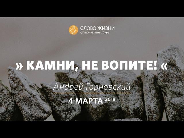 Камни, не вопите - Андрей Горновский, Слово Жизни, г. Санкт-Петербург