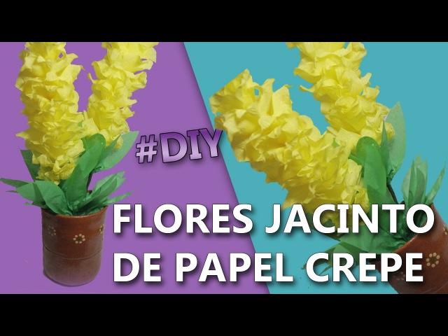 FLORES DE PAPEL CREPE FACILES Y BONITAS | Flores jacinto | Manualidades de papel