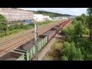 Tavarajuna T52890 hiililastissa lähtee Lahesta kohti Loviisan satamaa 29min myöhässä