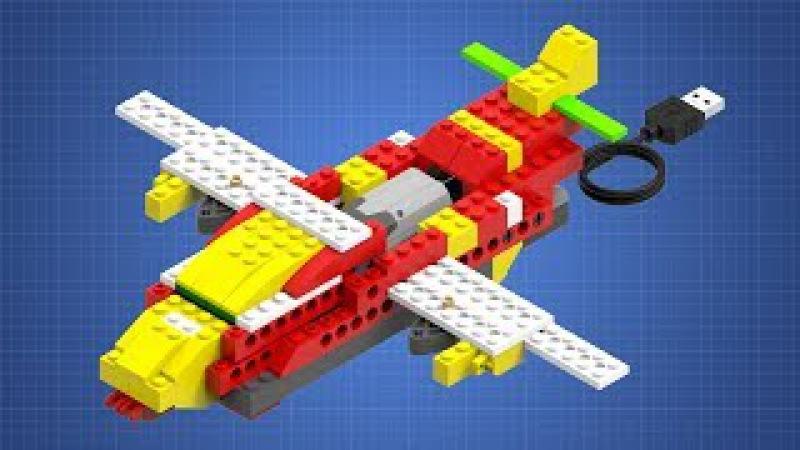 Модель Истребитель. Инструкция по сборке. LEGO WeDO.