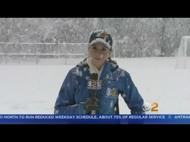 Snow Piling Up On New Jersey Roadways