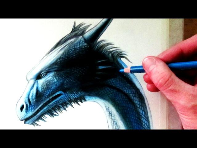 Drawing a Dragon Head - Saphira from Eragon
