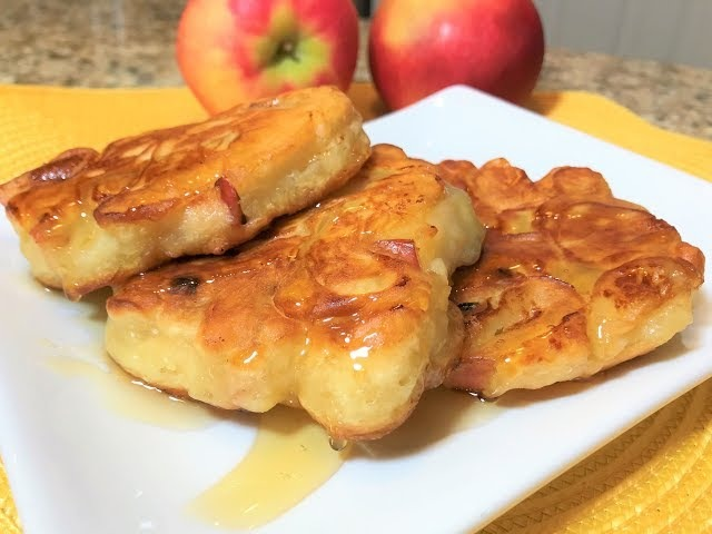 Постные ОЛАДЬИ С ЯБЛОКАМИ Лучший Завтрак для всей семьи Фруктовая Вкуснятина Apple Fritters