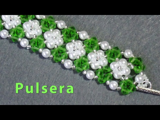 DIY - Pulsera de perlas y tupis DIY - Bracelet of pearls and tupis