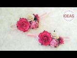 Flower Headband Ideas With Paper Flowers and Lace DIY by Elysia Handmade