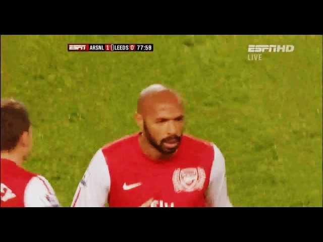 Arsenal - Leeds United 1:0. Goal Henry (9.01. 2012)