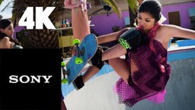 4K Women Skateboarding - Broken Nail - Extreme Sports in 4K - AFI - Sony 4K Channel