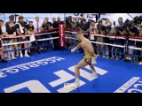 Conor McGregor trains before the fight with Floyd Mayweather, UFC vs. BOXING