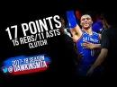Russell Westbrook Triple-Double 2018.02.22 OKC Thunder at Sacramento Kings - CLUTCH!   FreeDawkins
