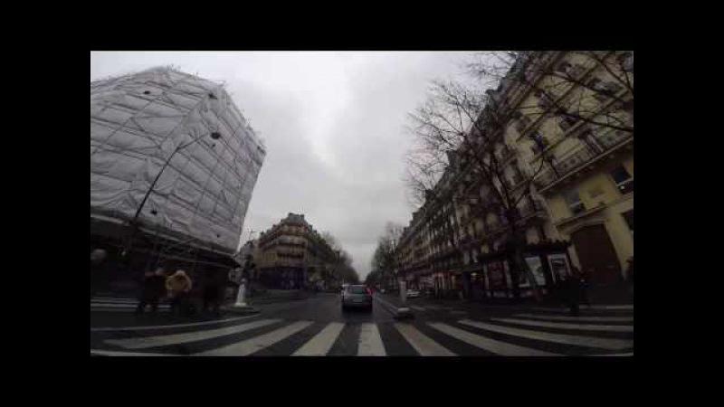 Driving In Paris - Rue Gazan (Parc Montsouris) - Boulevard de Sébastopol