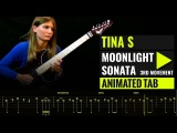 LUDWIG VAN BEETHOVEN - MOONLIGHT SONATA - 3RD MOVEMENT - TINA S Cover - Animated Tab