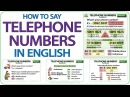 Telephone Numbers in English