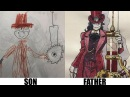 DAD TURNS HIS SON'S DRAWINGS INTO ANIME