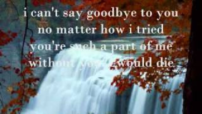 I cant say goodbye to you by Helen Reddy with Lyrics