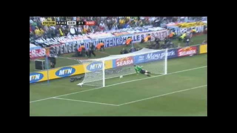 Frank Lampards DISALLOWED Goal Germany v England World Cup South Africa 2010 Last Sixteen