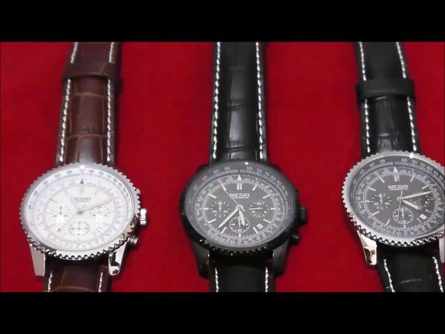 Часы Megir Aviator Chronometer. Обзор трех модификаций. Megir 2009