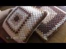 Вяжем подушки из больших квадратов