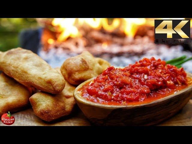 You NEVER saw this food before! - AJVAR Recipe Crispy Langos Bread