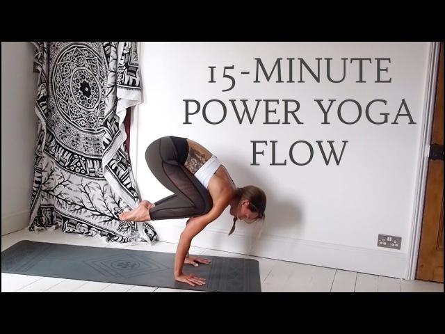 15 MINUTE POWER YOGA FLOW | Vinyasa Yoga Flow | CAT MEFFAN