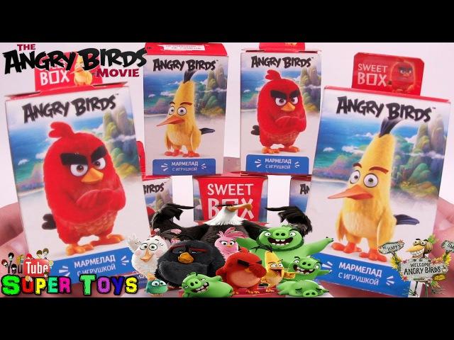СВИТ БОКС Angry Birds Movie Энгри Бёрдс В Кино Коробочки Сюрприз Sweet Box Unboxing Surprise Toys
