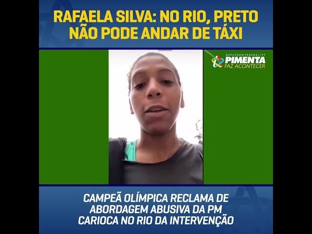RAFAELA SILVA PRETO NÃO PODE ANDAR DE TÁXI QUE DEVE ESTAR ROUBANDO