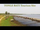 Drone Shot and Street Food of Tonle Bati Tourism Site at Bati District in Takeo Province
