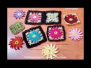 How to crochet daisy flower granny square Point petal Floral Granny Square 3