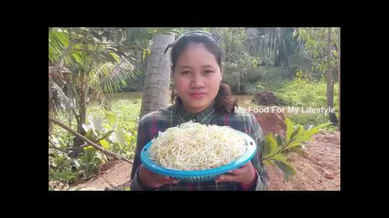 Awesome Cooking Fry Pork With Beansprouts Recipes - Fried Beansprouts Recipes - Village Food Factory