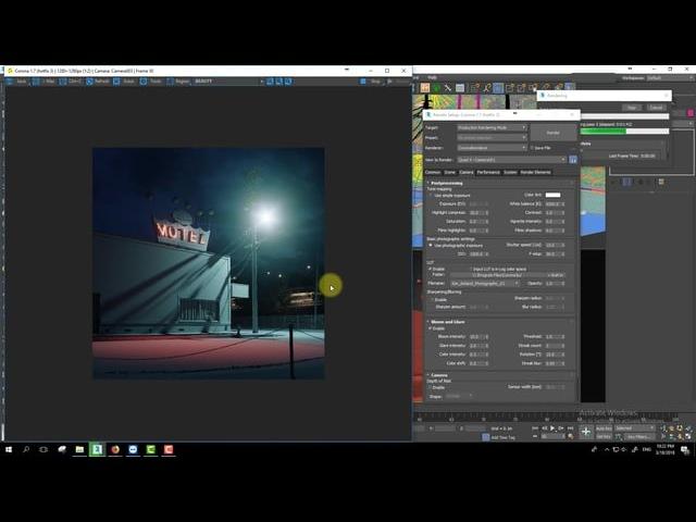 305 Kern St - Corona renderer lighting tutorial