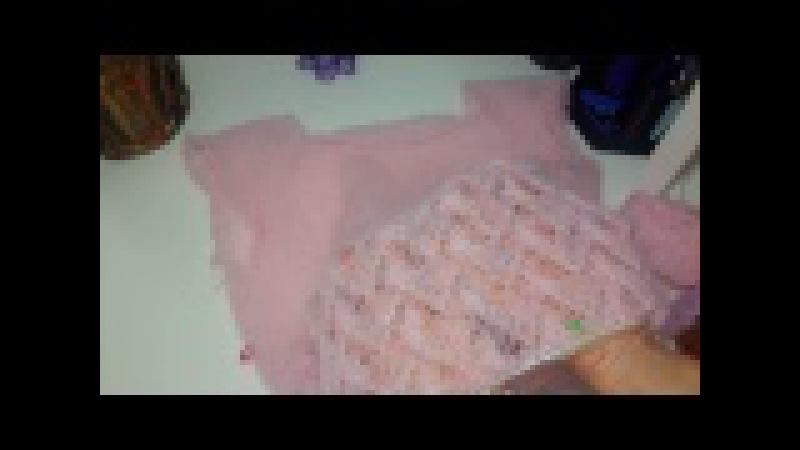 Вязаное платье Лиловая пудра из Alize Kid Mohair в процессе 💟🍨🌹🍦💐