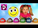 ЛЕПИМ КОЛОБКИ из Кинетического Песка - Видео для Малышей