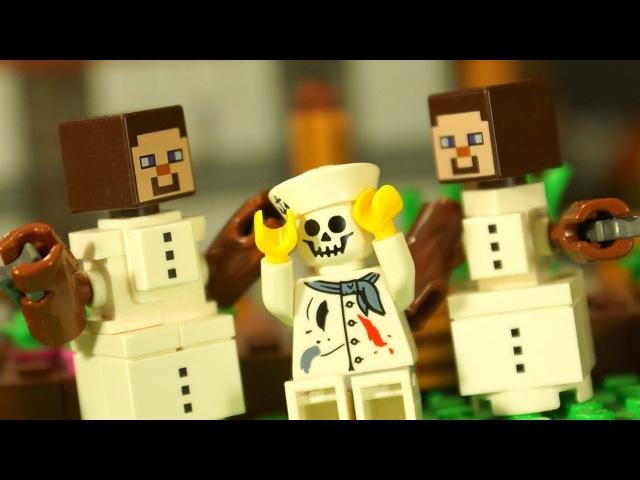 Лего НУБик и Борька Мультфильмы Все Серии Подряд LEGO Minecraft Stop Motion Animation