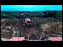 Гусеничные и колесные трактора в грязи! Большим тракторам большое бездорожье! П ...