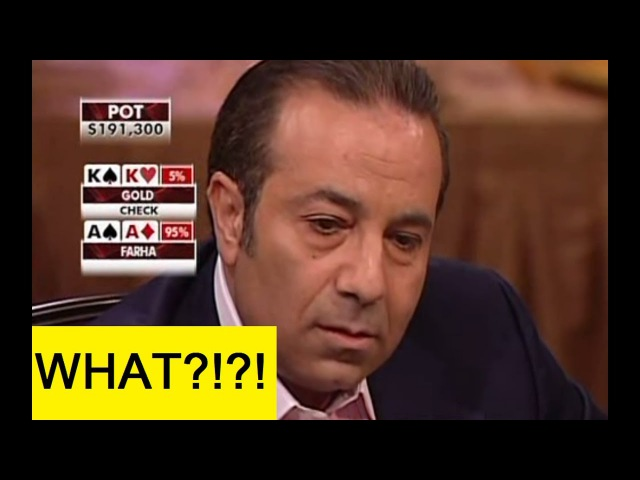 The most INSANE poker hand ever! Gold vs Farha