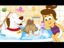 Bath Time Song: Annie Ben and Mango | Nursery Rhymes For Children by HooplaKidz