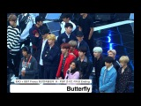 평창문화올림픽케이팝콘서트 EXO + BTS[4K Rehearsal 리허설 Ending 직캠]Butterfly@171101 락뮤직