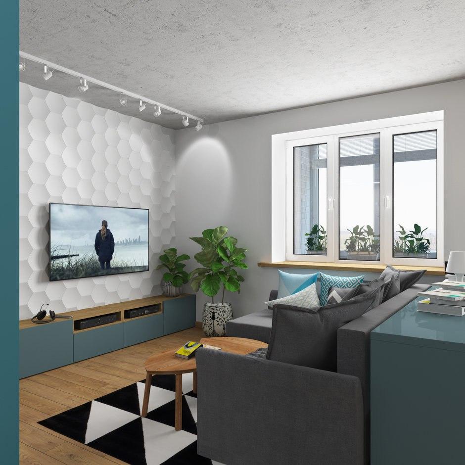 Проект квартиры 41 м (с лоджией 49 м).