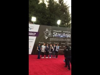 U-KISS - Red Carpet of 'Star of Asia' - fancam by Нафиса Анварова (20.08.17)