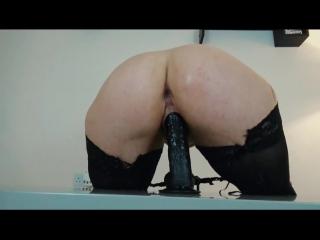 Phat ass riding black dildo free HD -  big ass butts booty tits boobs bbw pawg curvy mature milf stockings