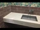 Столешница в ванную из акрилового камня Grandex M-710 Float Rock коллекции Marble Ocean