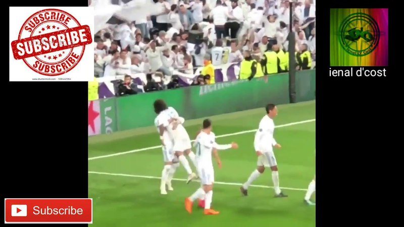 Aksi selebrasi MARCELO usai membobol gawang PSG