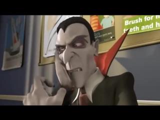 Дракула у стоматолога! Смешной мультик про больные зубы