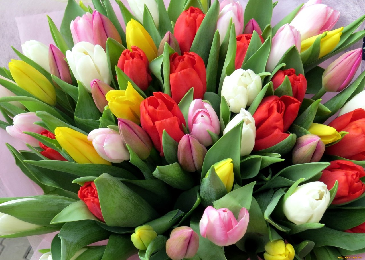 Картинки с букетами цветов к 8 марта, днем